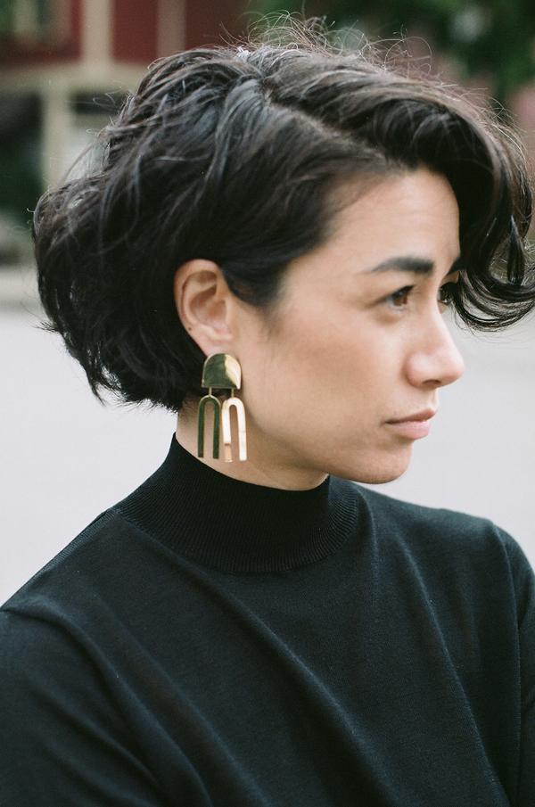 Quarry Lautner Earrings - brass