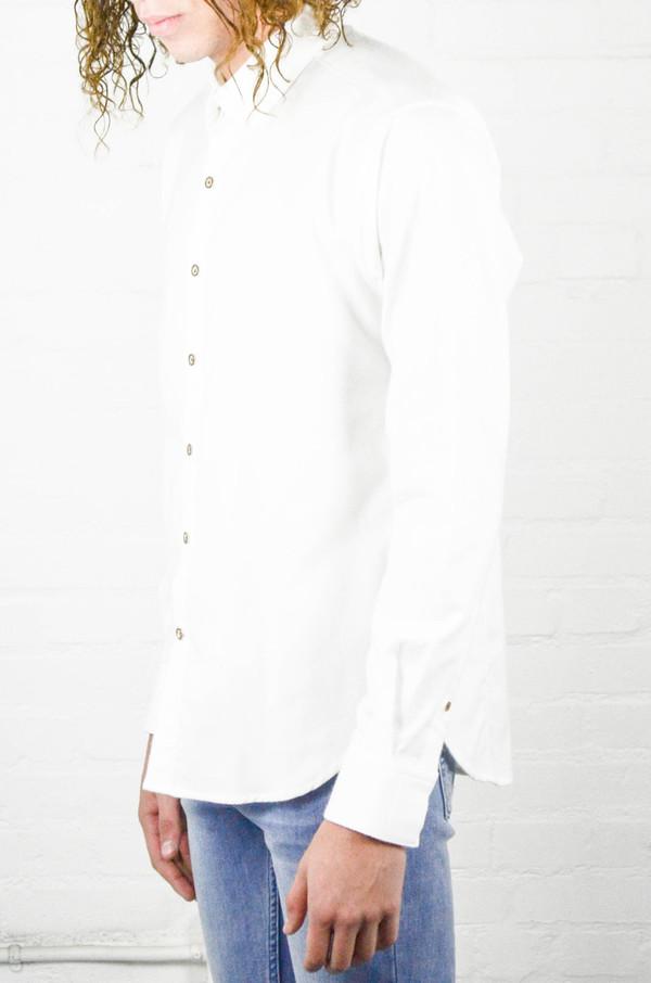 Men's 18 Waits Dylan Shirt White Flannel