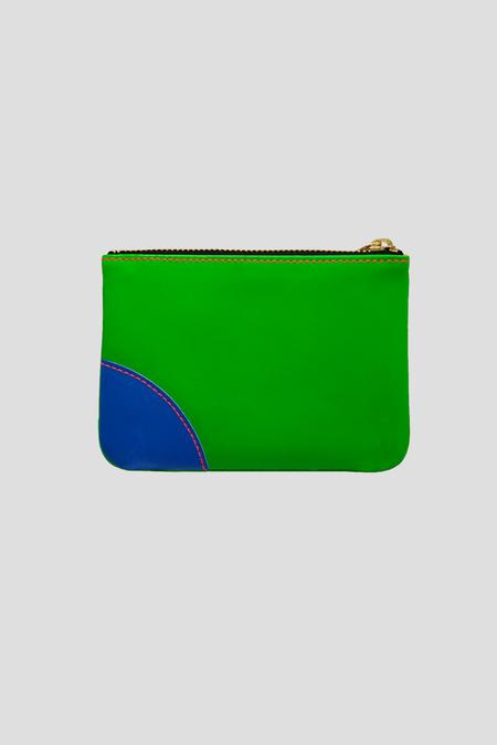 Comme des Garçons Super Fluo Small Zip Pouch - Green/Orange