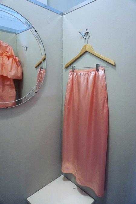 MM6 Maison Margiela Satin Skirt - Coral