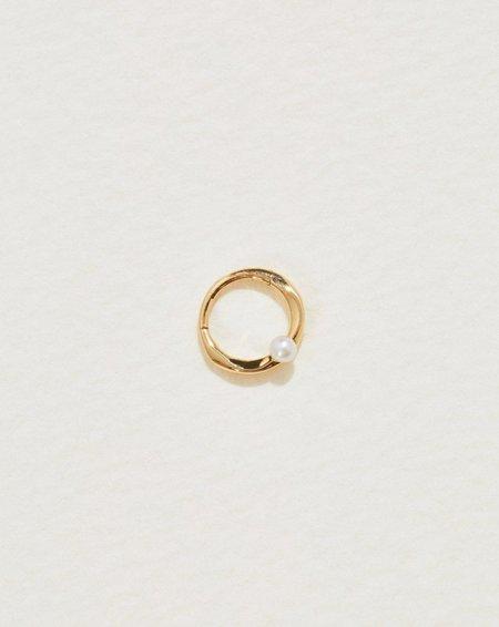 Pamela Love 8mm Floating Pearl Clicker earrings - 14k yellow gold