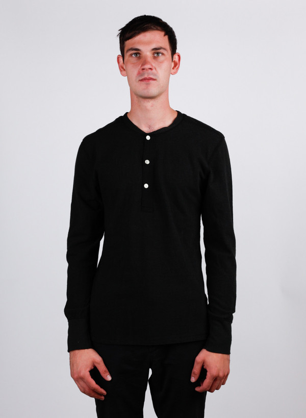 Homespun Standard Henley Charcoal