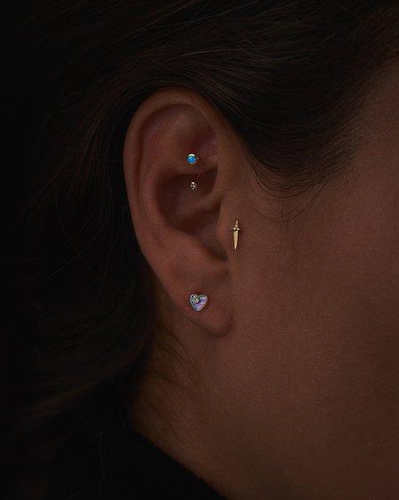 Pamela Love Gravitation Hook earrings - 14k yellow gold