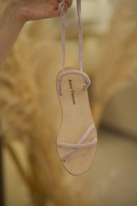 Anne Thomas Rachel Velvet Sandal - Purple