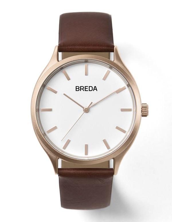 Breda Asper Watch Rose Gold Brown