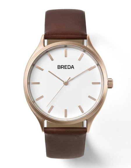Breda Asper Watch Rose Gold Brown