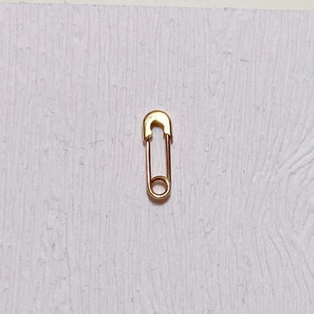 Godfrey and Rose Tiny Safety Pin Earring - 14K Gold