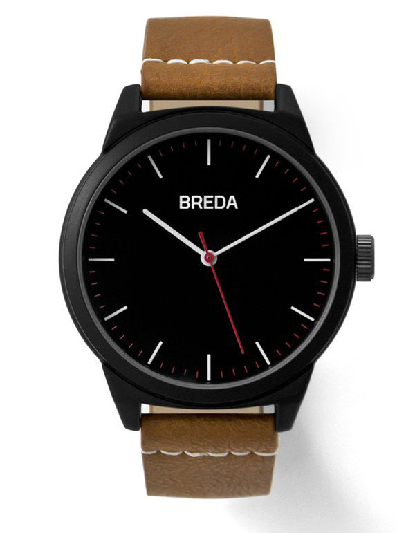 Breda Rand Watch Black Brown