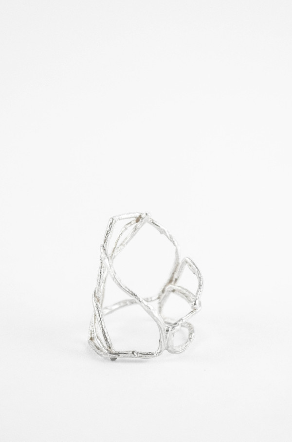 K/ller Willow Cage Ring Sterling