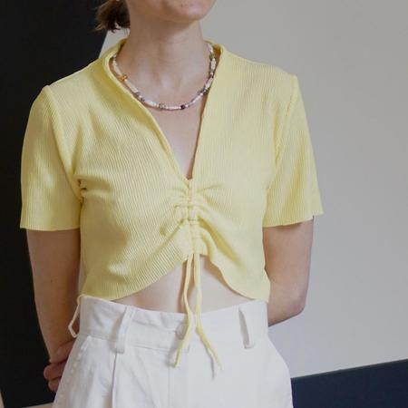 Tach Clothing Astrid Pleated Top - Yellow