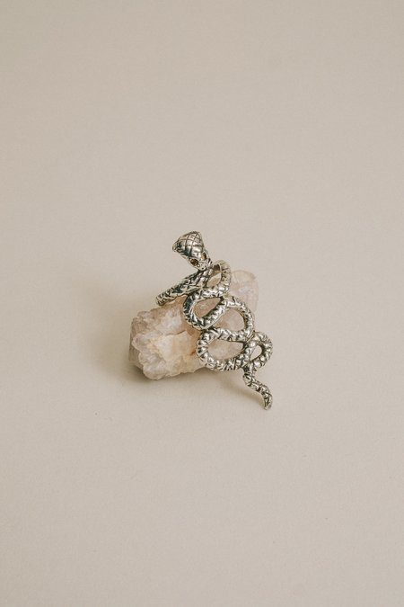 Allison Bartline Uraeus Ring - Sterling Silver