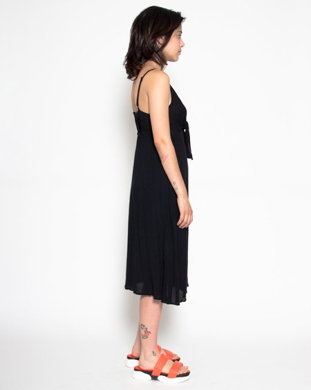 Persons Janet Crinkle Midi Dress - Ebony