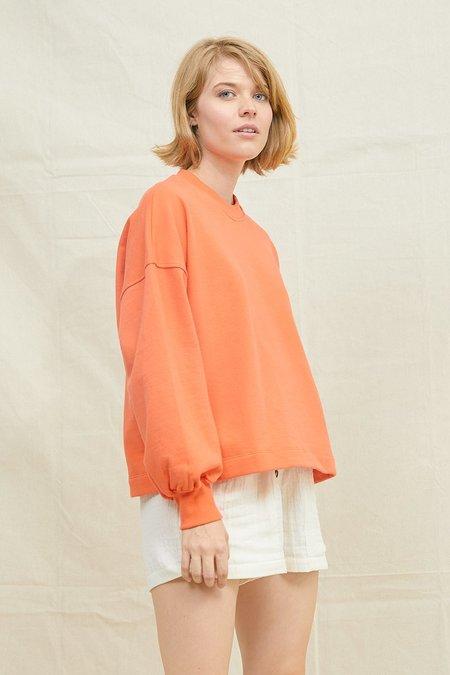 BACK BEAT RAGS Puff Sleeve Sweatshirt - Blood Orange