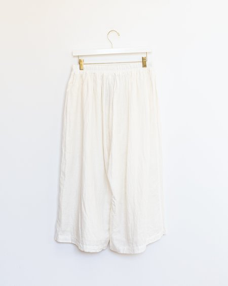 ICHI ANTIQUITES Cotton Linen Pants - White