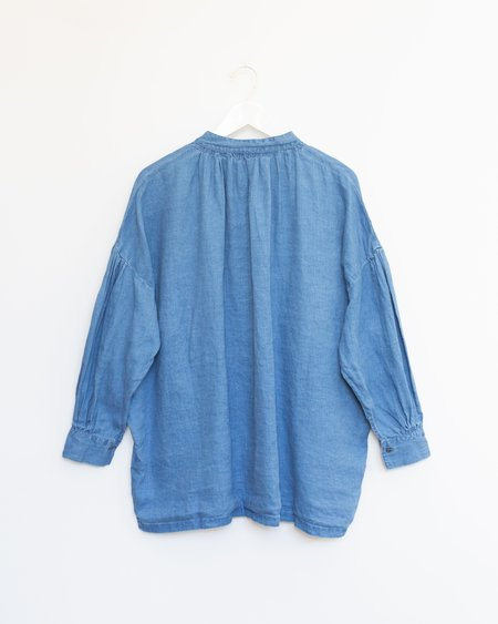 ICHI ANTIQUITES Indigo Bleach Shirt - Light