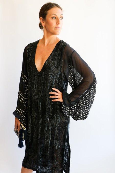 [Pre-loved] Dries Van Noten Embellished Dress - Black/Navy