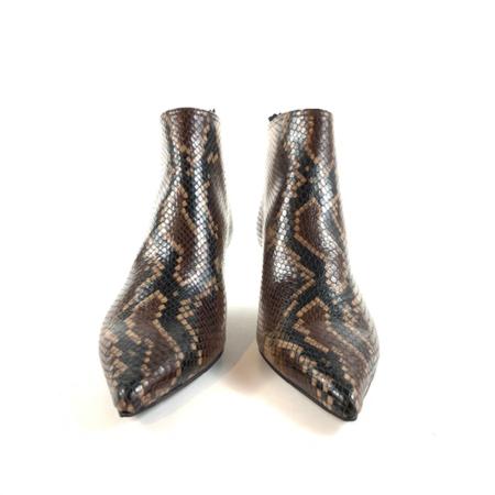 AGL Snake Print Bootie - Cognac