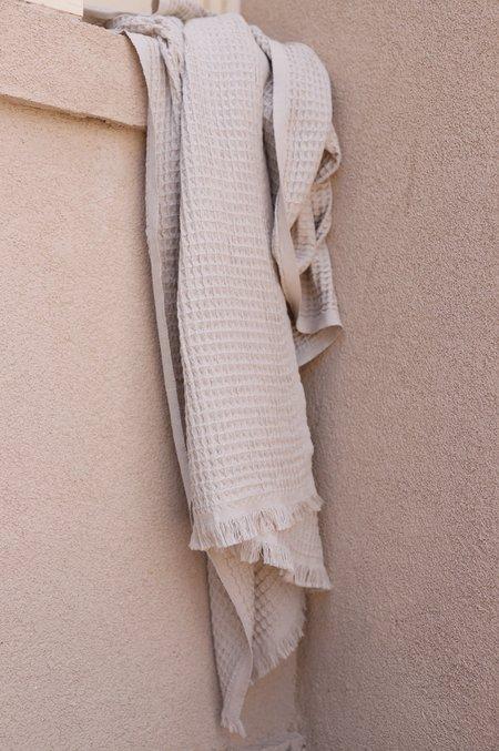 The Handloom Soft Waffle Towel - Sand