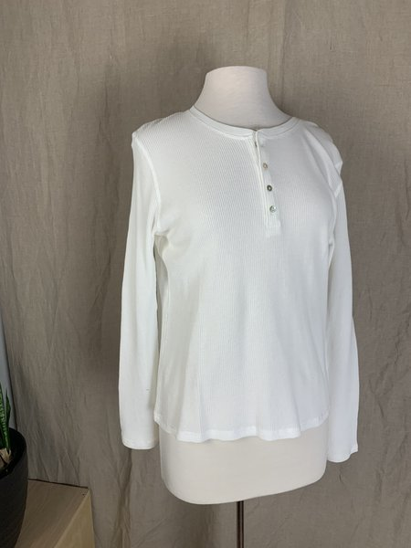 Michelle by Comune Monona Waffled Cotton Thermal - White