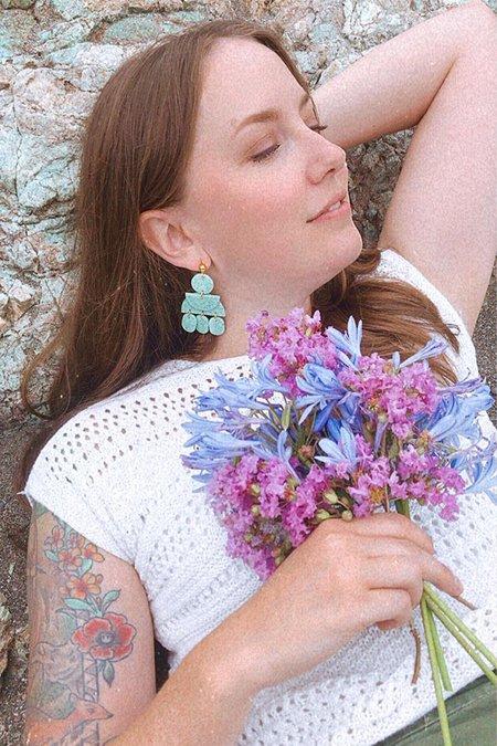 Elizaberry Gypsy Earrings - Robin Egg Green