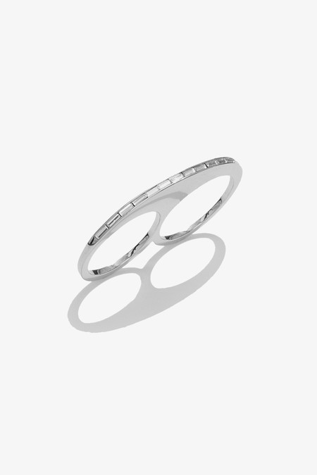 Sarah Magid Slice Ring - Rhodium