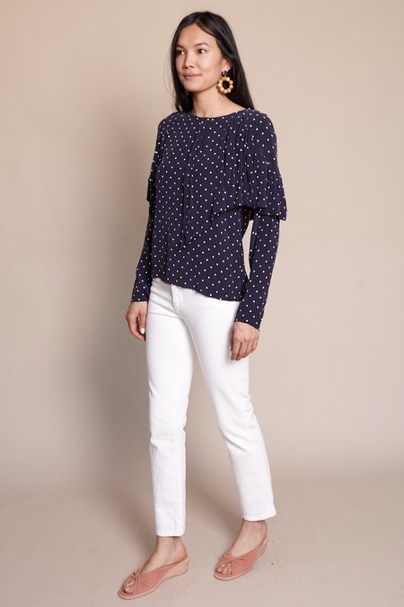 Maria Stanley Rooney Blouse - Navy Dot