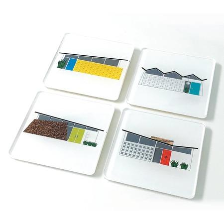 Destination PSP House Acrylic Coaster Set