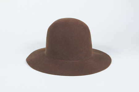 Clyde Short Brim Dome Hat in Field Brown Wool