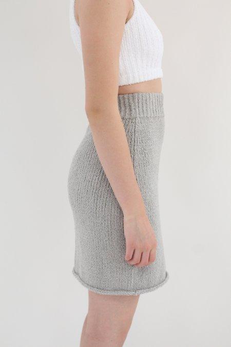 Beklina Bouclé Knit Skirt - Grey