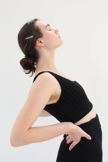 Beklina Bouclé Knit Uno Top - Black
