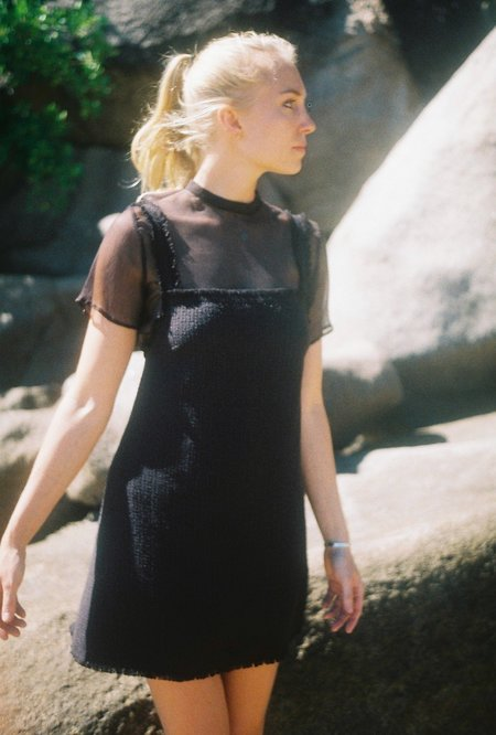 Annie Hamilton Raw Silk Minidress