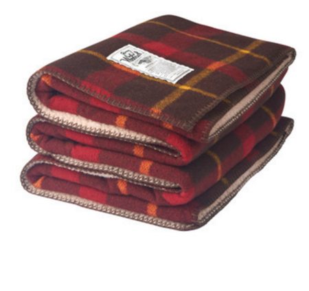 Woolrich Sherpa Mountain View Wool Blanket