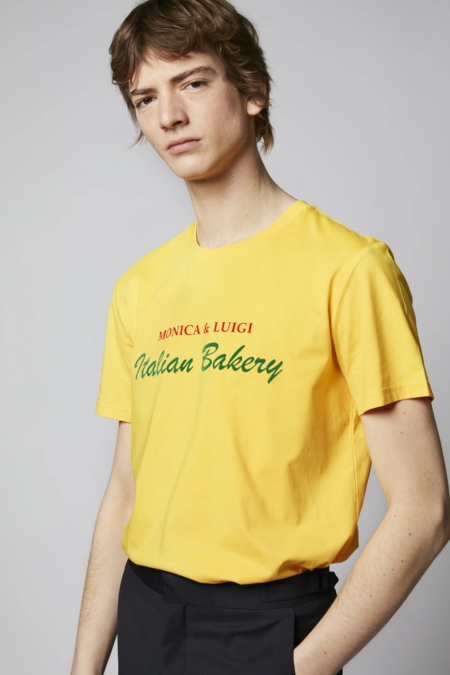 Unisex Harmony Monica & Luigi T-shirt  - Yellow