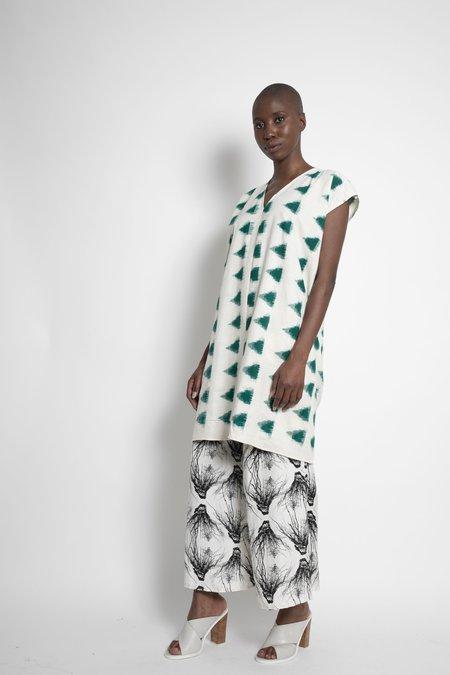 H. Fredriksson Ikat Love Dress - Cream/Black