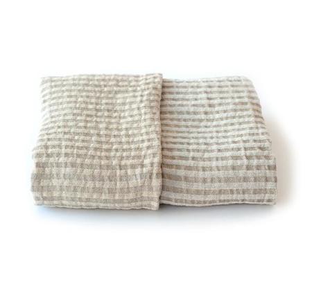 Vaxbo Lin Storm Bath Towel - White/Golden
