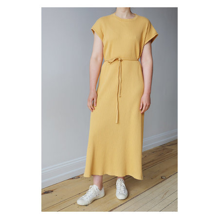 Baserange Shaw Kaftan Sleeveless Dress - Laburnum Yellow