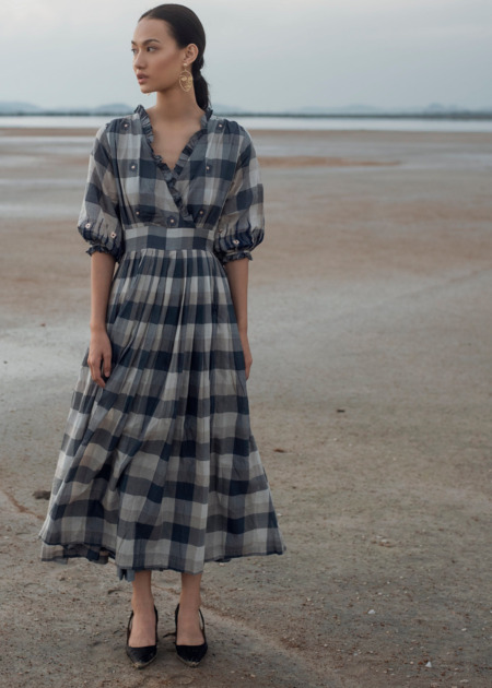 The Loom Art Tinted shades dress - Blue/Grey