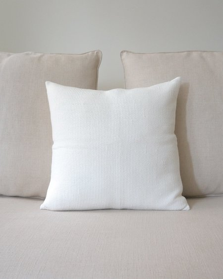 VOZ Apparel Solid Euro Pillow - Ivory