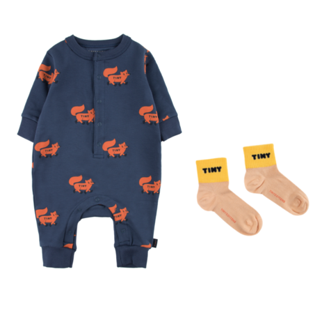 Kids Tinycottons Foxes One Piece
