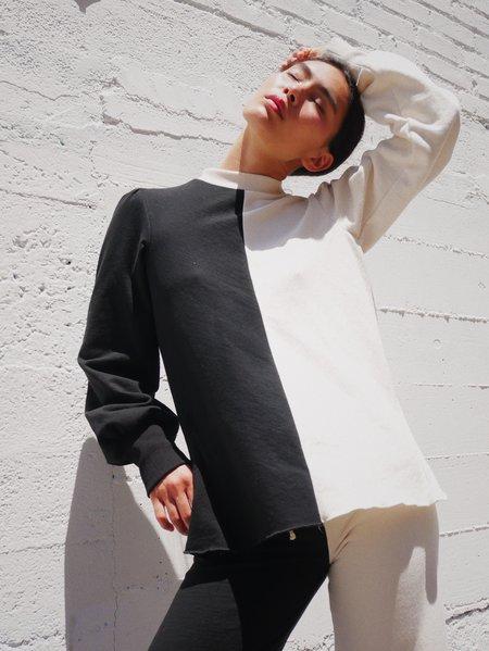 SELVA / NEGRA Wabi Two-tone Sweater - Black/Natural