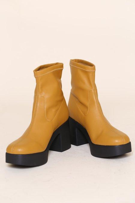 """""""INTENTIONALLY __________."""" Marlowe Boots - Butterscotch Vegan"""