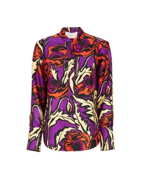 La DoubleJ Portofino Shirt - Big Blooms Viola