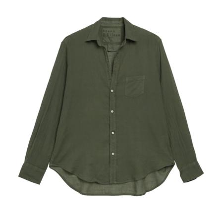 Frank & Eileen Eileen Shirt - Army Green Voile