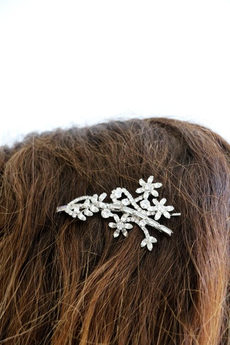 [Pre-loved] Jennifer Behr Swarovski Hair Pin - Silver