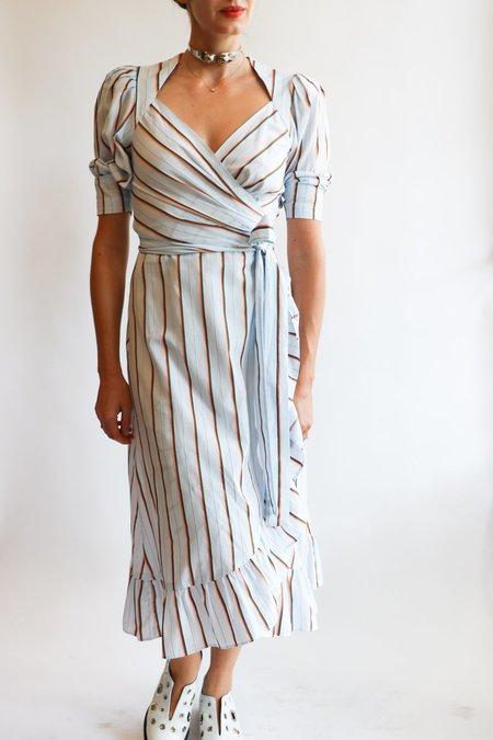 [Pre-loved] Jill Stuart Wrap Dress - Light Blue