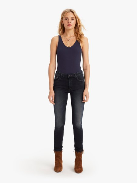 Mother Denim High Waist Looker Ankle Fray Jeans - Last Call