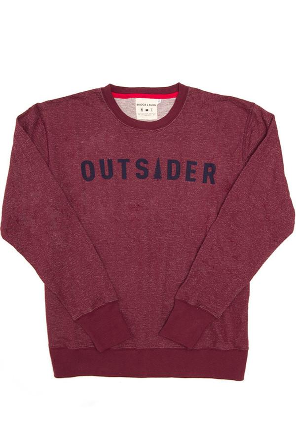 Men's Bridge & Burn Columbiaknit Outsider Sweatshirt Burgundy