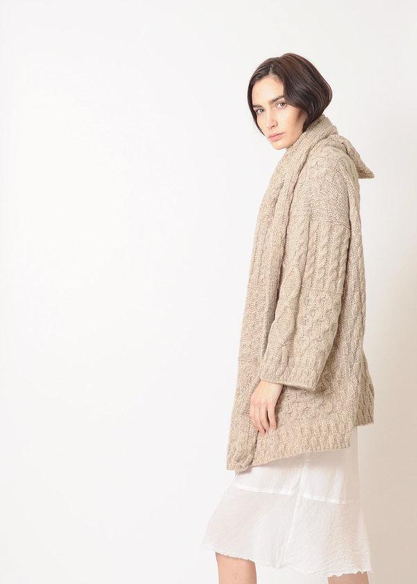 Lauren Manoogian Patchwork Cable Coat