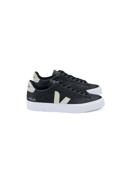 VEJA Zapatillas Campo Chromefree Leather Sneakers - Black/White