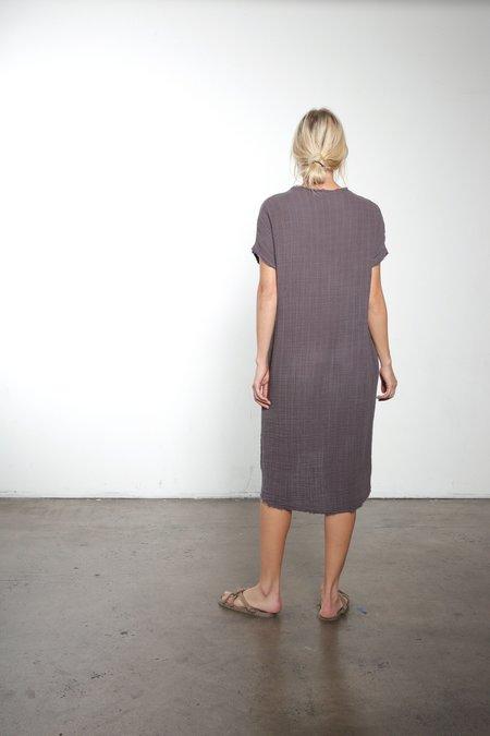 It Is Well L.A. Raw Edge V-Neck Hi-Lo Gauze Dress